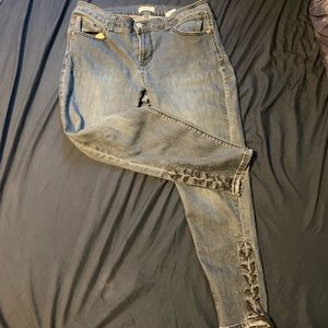 Kensie jeans size 10/30 10 lace up bottoms